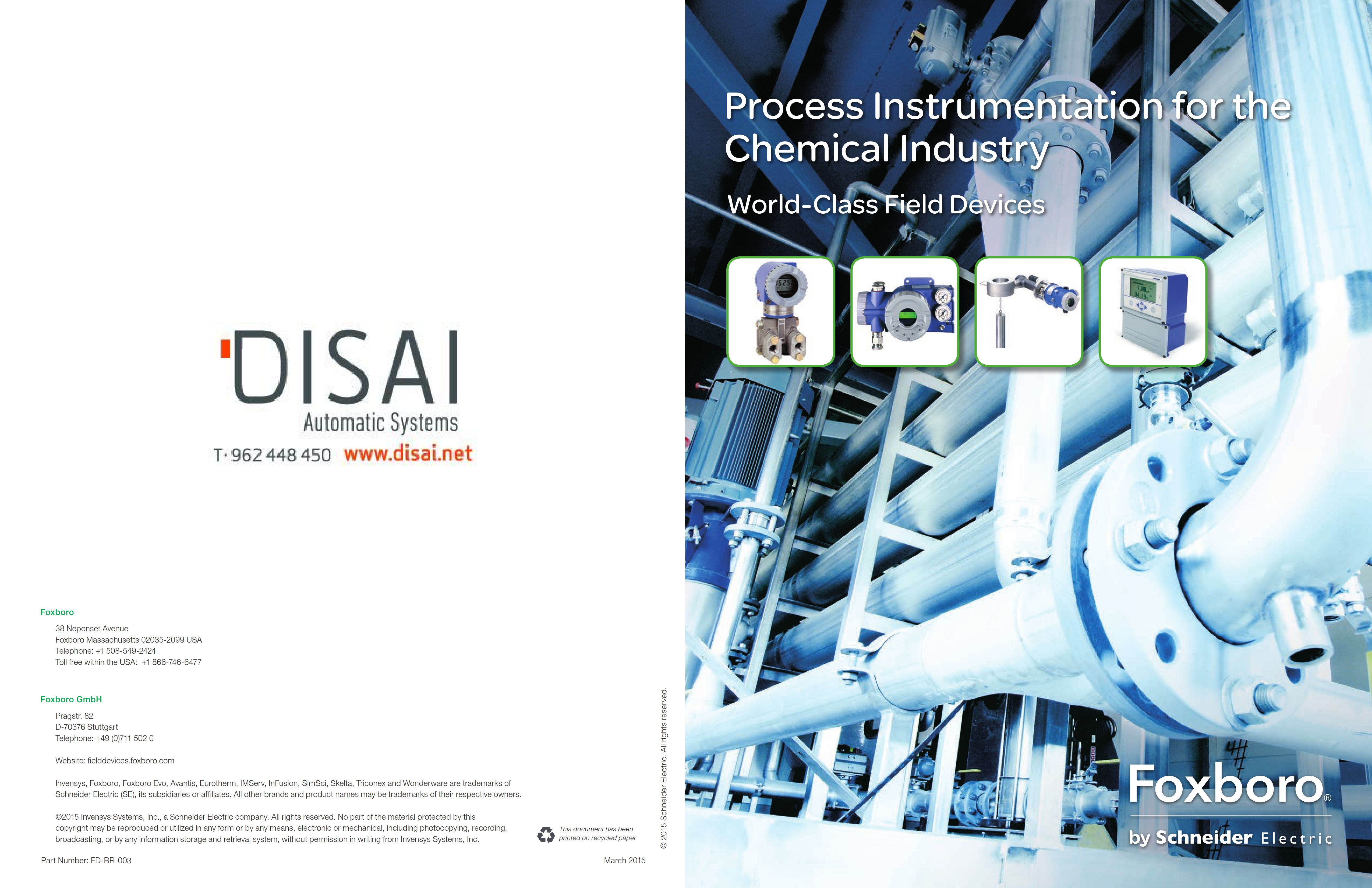 Portada_CAT_ChemicalBrochure_FD-BR-003_001 - Disai Automatic Systems